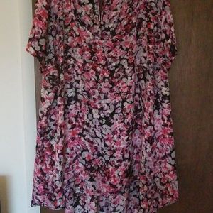 Boutique Floral High-Low Blouse